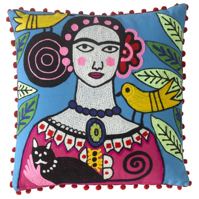 Frida Kahlo Fairtrade Cushion
