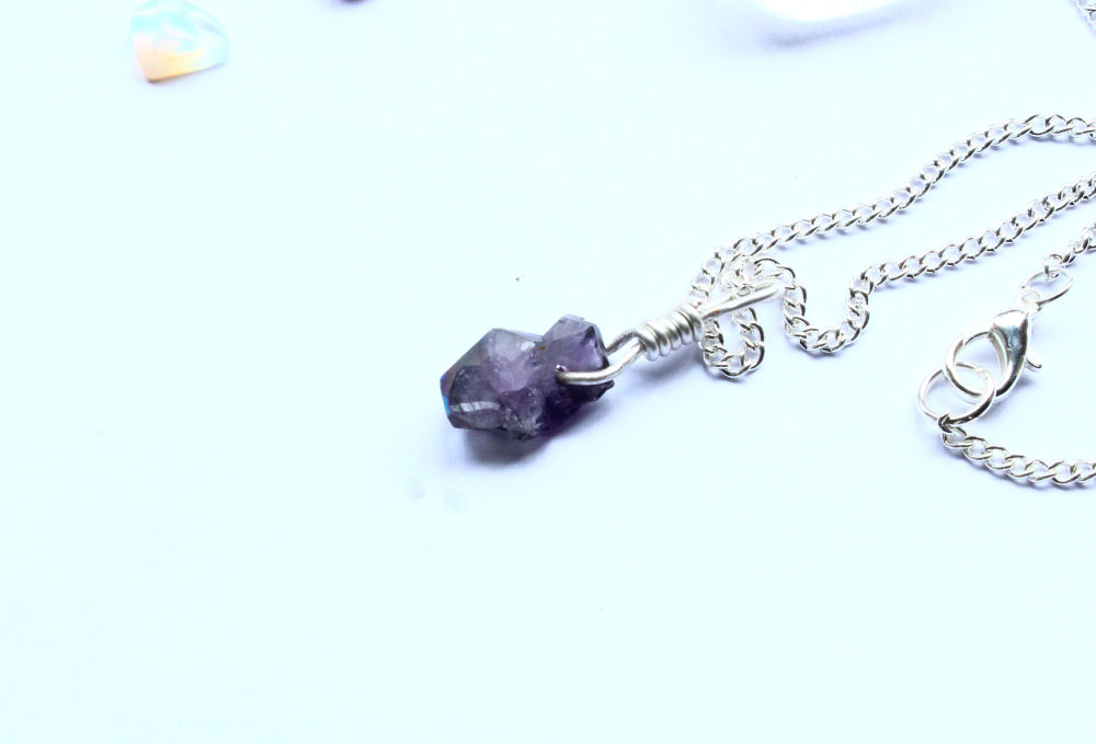 Rough cut amethyst gemstone