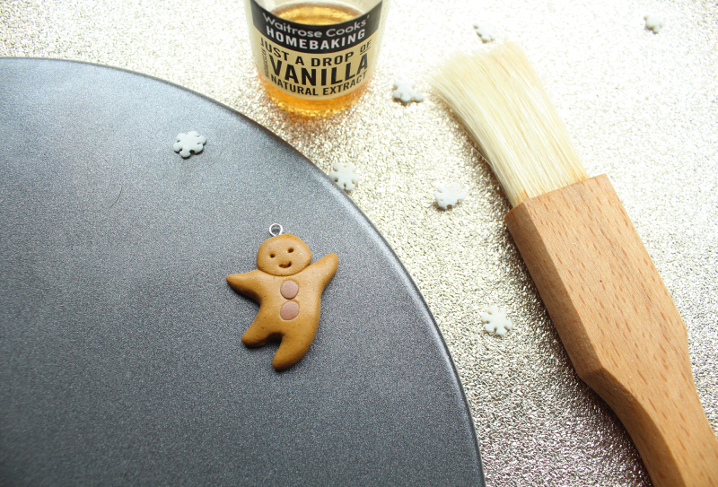 Polymer Clay Baking Gingerbread Man