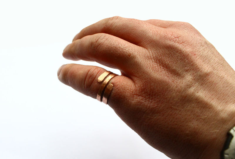 Chunky Hammered Copper Thumb Ring - product image