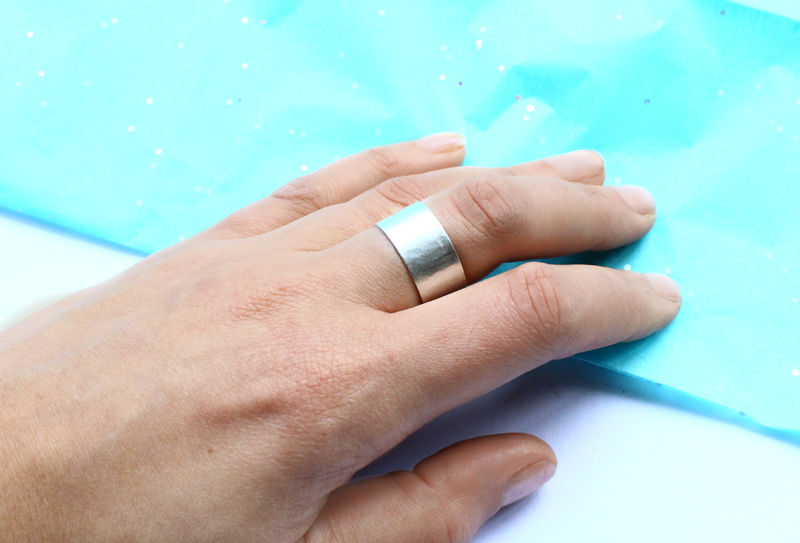 Hammered Sterling Silver Cuff Ring - product image
