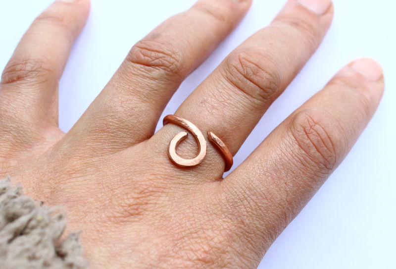 Egyptian Vibe Copper Open Ring - product image