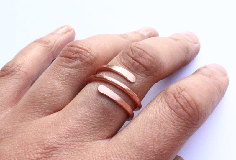 Hammered Copper Open Ring - product image