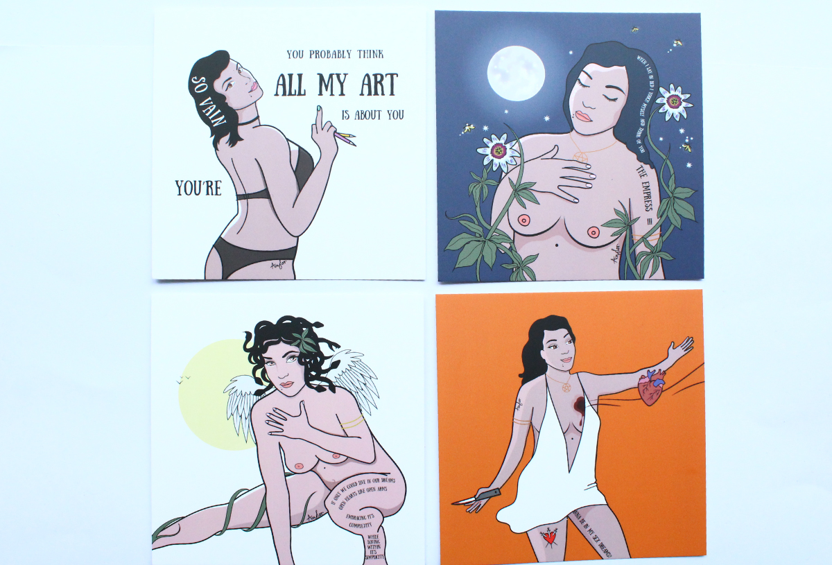 Pop art postcards