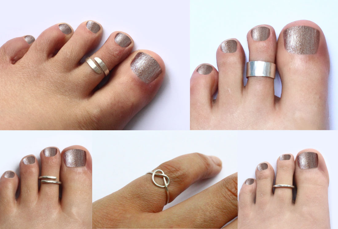 Toe Rings Collection Summer Footwear Fashion