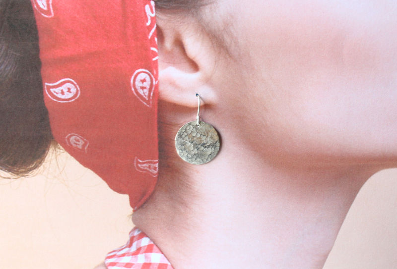 Sterling Silver Full Moon Earrings - product image