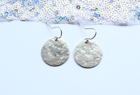 Sterling,Silver,Full,Moon,Earrings,moon, full moon, wiccan, pagan, wicca, witch, astronomy, geek, lunar, nature, minimalist jewelry, classic, drop earrings, handmade,  silver earrings, 925 sterling, jewellery, jewelry, solid silver, gift for her, anniversary gift, valentines gift