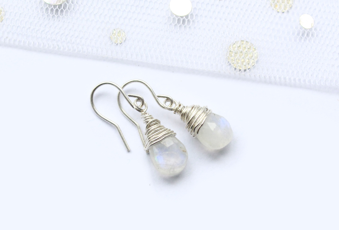 Moonstone jewelry earrings