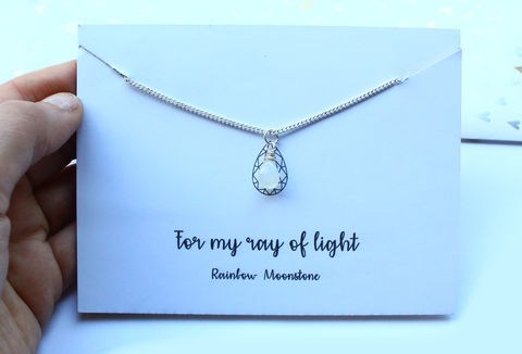 Moonstone,Gemstone,Necklace,sterling silver,. romantic gift, valentines gift, gift for her, sewing gift, needle in a haystack, 925 sterling, minimalist necklace, jewelry, jewellery, simple necklace, anniversary gift, anniversary, love, for girlfriend, for wife, for lover