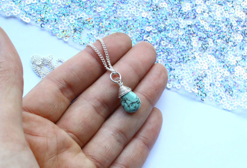 Turquoise Necklace Spiritual Gift - product image