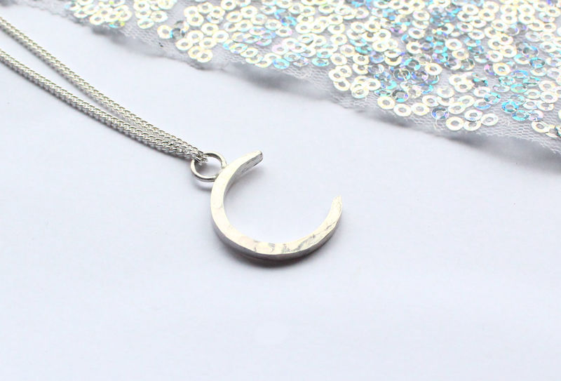 Silver Crescent Moon Pendant - product image
