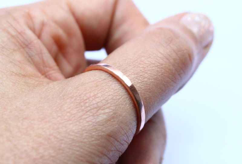 Minimalist Pure Copper Ring - product image