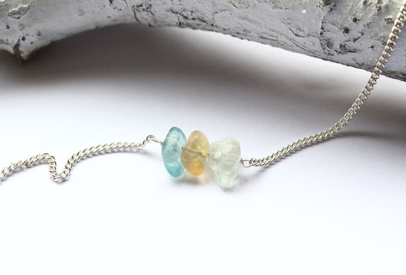 Gemstone Strand Silver Necklace - product image