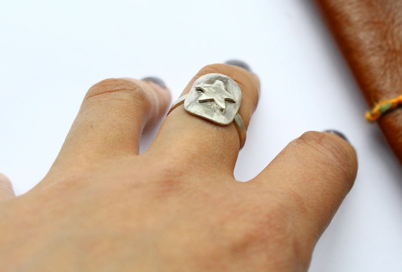 Viking Star Shield Statement Ring - product image