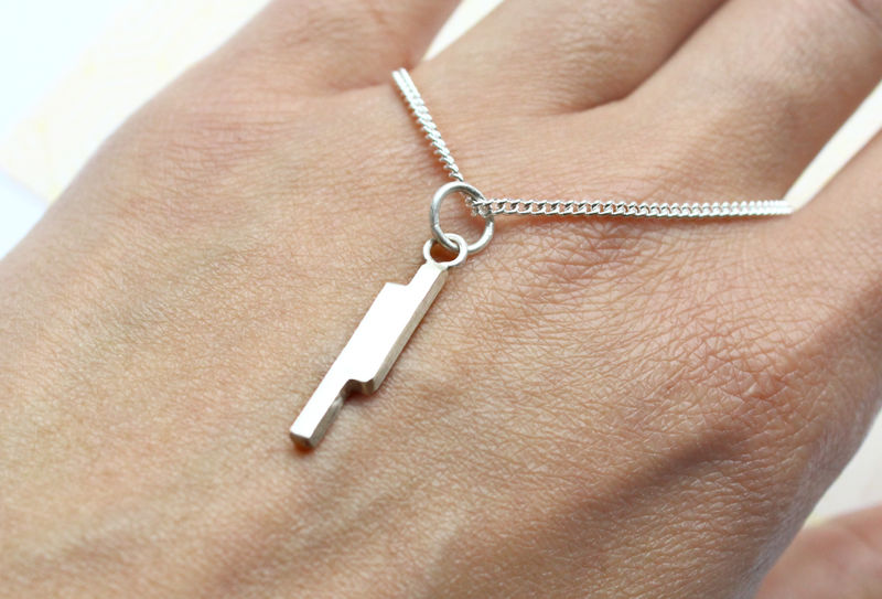 Silver Lightning Rods Necklace - product image