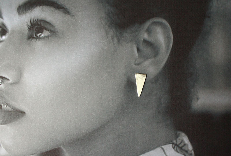 Silver Dagger Earrings - product image