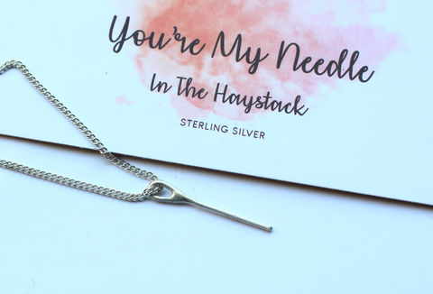 Romantic,Gift,For,Her,Needle,In,A,Haystack,sterling silver,. romantic gift, valentines gift, gift for her, sewing gift, needle in a haystack, 925 sterling, minimalist necklace, jewelry, jewellery, simple necklace, anniversary gift, anniversary, love, for girlfriend, for wife, for lover