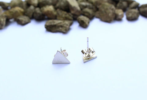 Triangle,Earrings,For,Men,earrings, stud, shard, triangle, dagger, minimalist, classic, 925 sterling, jewellery, jewelry, solid silver, gift for her, anniversary gift, valentines gift