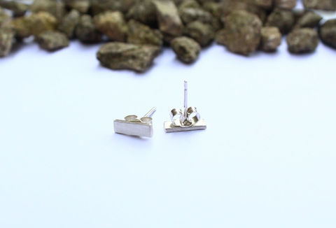 Silver,Bar,Minimalist,Earrings,For,Men,earrings, stud, bar, rectangle,  for men, for man, minimalist, classic, 925 sterling, jewellery, jewelry, solid silver, gift for him, anniversary gift, valentines gift