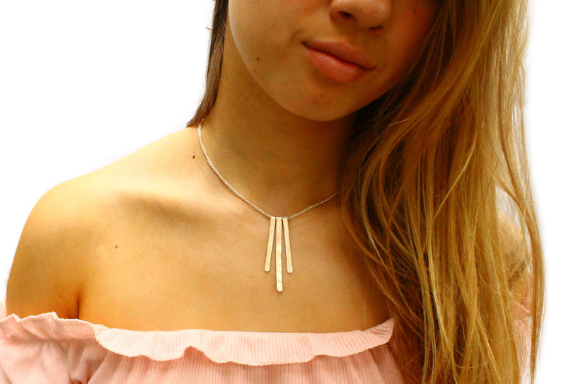 Sterling Silver Fringe Necklace - product image