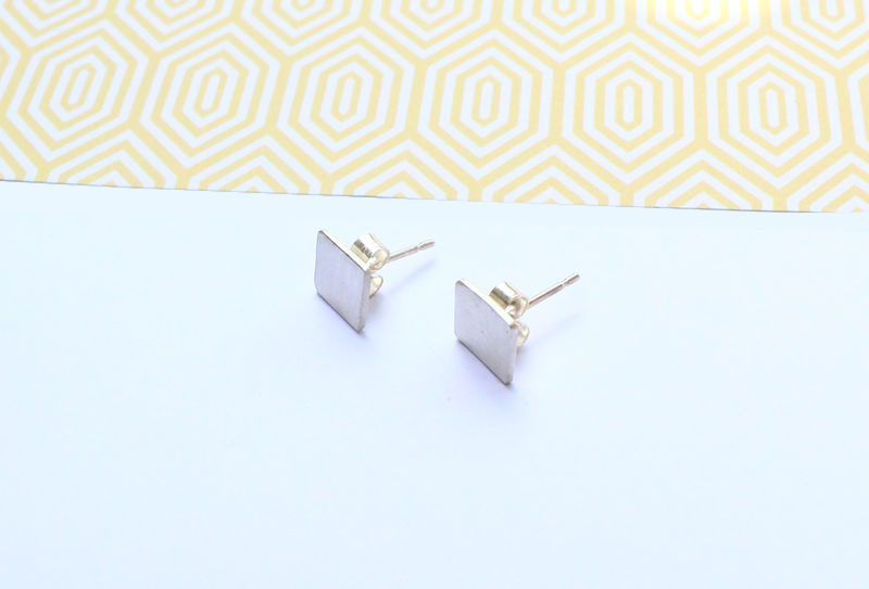 Cube Stud Minimalist Earrings - product image