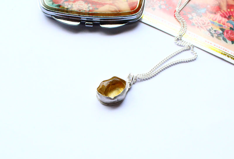 Raw Gemstone Necklace One of a Kind - product image