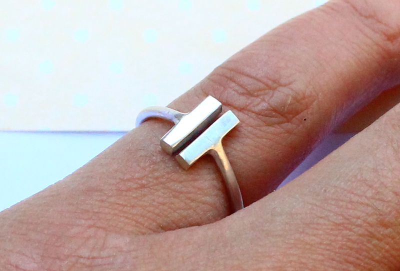 Bars Ring in Sterling Silver - product image