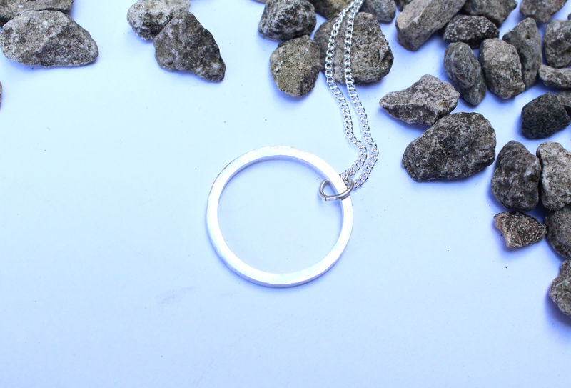 Silver Full Moon Pendant - product image