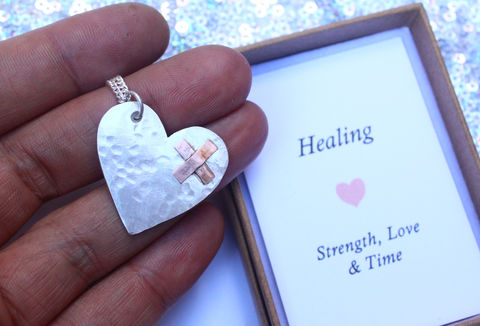 Healing,Necklace,for,Heartbreak,or,Illness,Recovery,sterling silver necklace, for her, covid gift, miss you gift, stay safe gift, heartbreak jewellery, healing jewellery, healing necklace, gift for friend