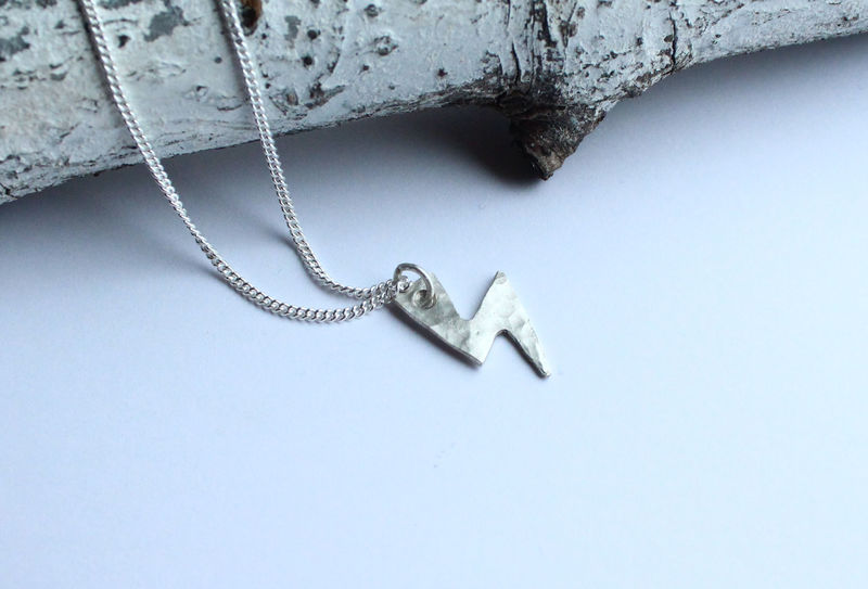 Silver Bowie Necklace Lightning Bolt - product image