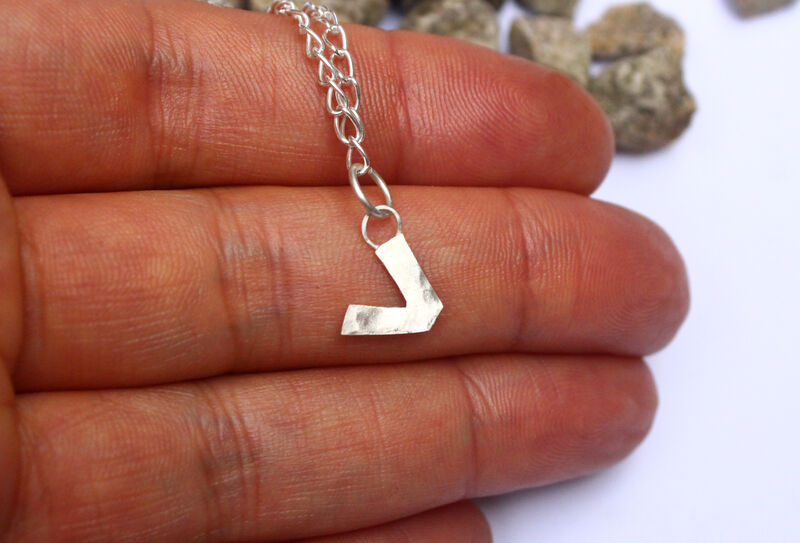 Vegan or Vegetarian Charm Anklet in Sterling Silver - product image