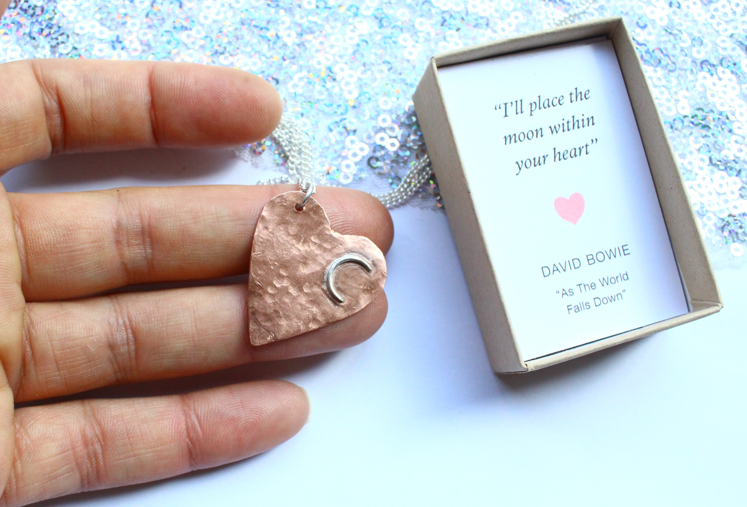 David Bowie Necklace Romantic Lyrics Inspired