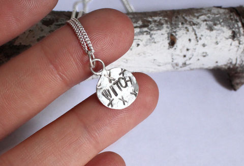 Silver,Witch,Necklace,Occult,Jewellery,witch, witchy, occult, witches, pagan, white white, necklace, pendant, 925 sterling, jewellery, jewelry, solid silver, gift for her