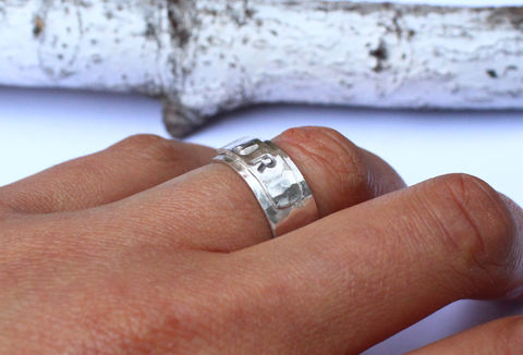 Personalised,Sterling,Silver,Cuff,Ring,personalised, initial, hammered, stamped, chunky, cuff, wide statement, thumb ring, sterling silver, 925, solid, wraparound, adjustable, jewelry, jewellery, costume jewellery, boho ring, Egyptian ring
