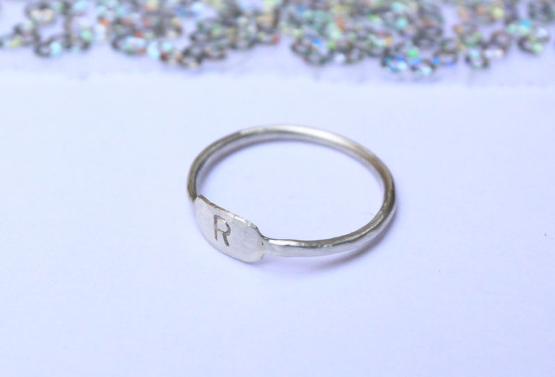 Initial Ring In Sterling Silver  - product image