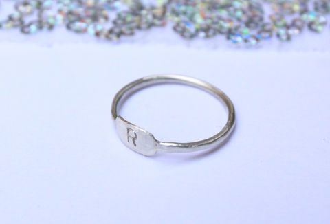 Initial,Ring,In,Sterling,Silver,personalised, initial, hammered, stamped, chunky, cuff, wide statement, thumb ring, sterling silver, 925, solid, wraparound, adjustable, jewelry, jewellery, costume jewellery, boho ring, Egyptian ring