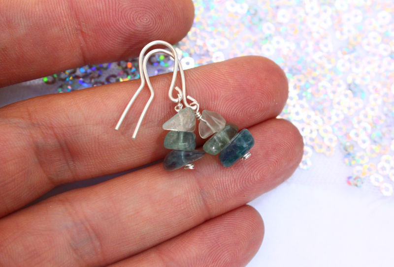 Rainbow Fluorite Gemstone Earrings  - product image