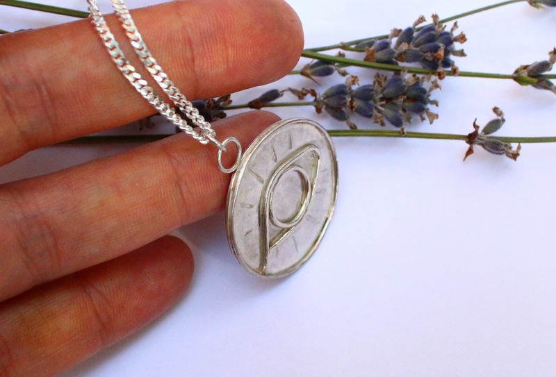 Eye of Truth Amulet in Sterling Silver - product image