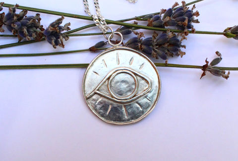 Eye,of,Truth,Amulet,in,Sterling,Silver,tarot, mystic, seeing eye, amulet, third eye, chain, necklace, pendant, rustic, 925 sterling, jewellery, jewelry, solid silver, gift for her, anniversary gift, valentines gift