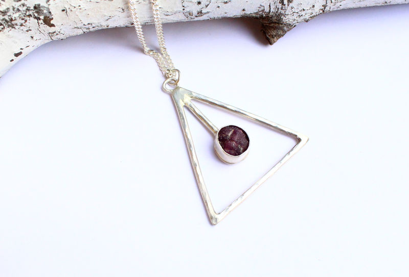 Seeing Eye Raw Ruby OOAK Amulet - product image