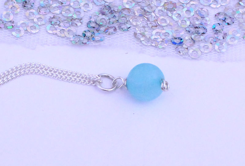 Blue Quartz Pendant Sterling Silver Gift - product image