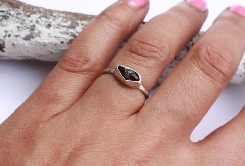 Raw,Garnet,Gemstone,Ring,-,OOAK,gemstone ring, rough, january birthstone, raw garnet, natural, sterling silver, 925,  jewellery, jewelry, statement ring