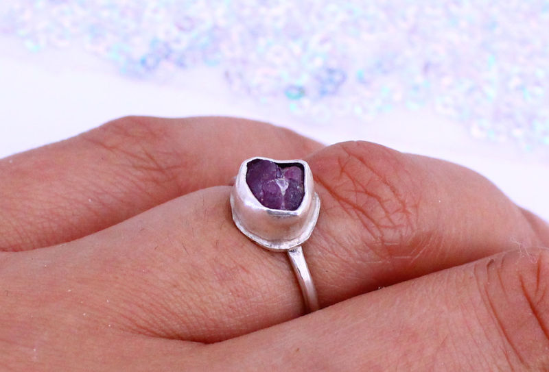 Raw Ruby Gemstone Ring - OOAK - product image