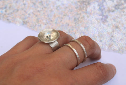 Birds,Nest,Contemporary,Statement,Ring,contemporary ring, sterling silver, birds nest, twitcher gift, luxury jewellery, statement, bold, large, jewelry