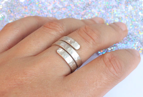 Sterling,Silver,Wrap,Ring,for him, for men, hammered, chunky, statement, thumb ring, sterling silver, 925, solid, wraparound, adjustable, jewelry, jewellery, costume jewellery, boho ring, Egyptian ring