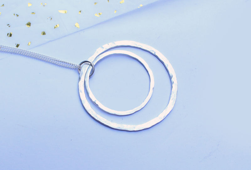 Silver Hoops Necklace - product image