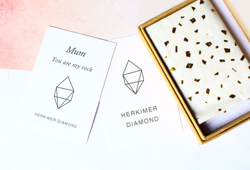 Herkimer Diamond Necklace Gift For Mum - product image