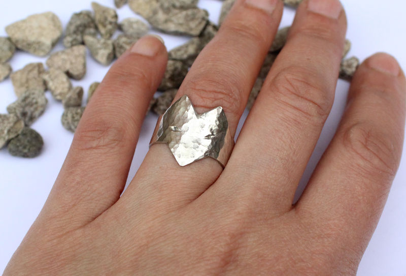 Silver Wolf Ring Statement Jewellery - product image