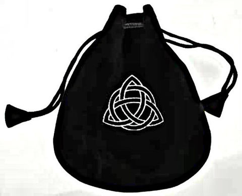 The,Celtic,Triquetra,Velveteen,Drawstring,Gift,Bag,The Celtic Triquetra-gift bags-velveteen bag-drawstring bag-Mojo Bag bags-supplies-Celtic Cross Gift Bag