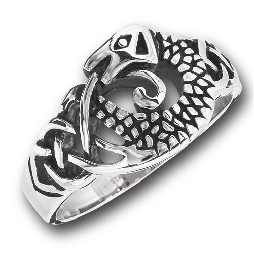 Celtic Dragon Ring Detailed Artisan designed - product images